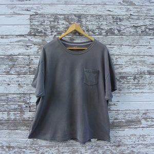 No. 398 Distressed Thrashed Gray Grey T-Shirt